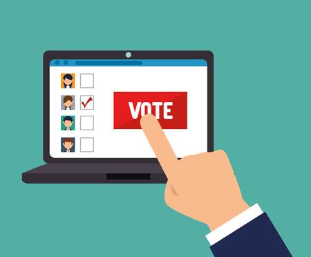 Élections de dessin animé vote illustration vectorielle de conception. Vecteurs