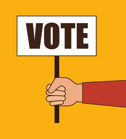 Élections de dessin animé vote illustration vectorielle de conception.
