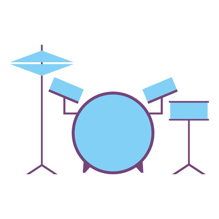musical drums battery set instruments vector illustration Illustration