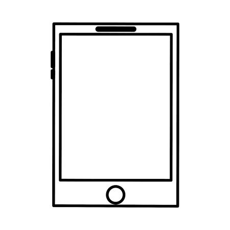 smartphone display digital device blank vector illustration outline design