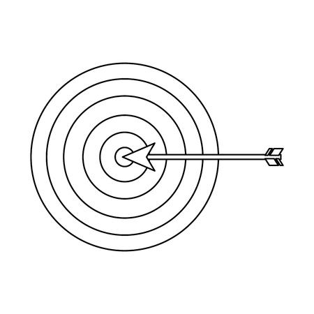 target arrow strategy business marketing vector illustration outline design Illustration