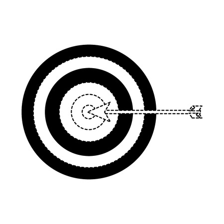 target arrow strategy business marketing vector illustration dotted line
