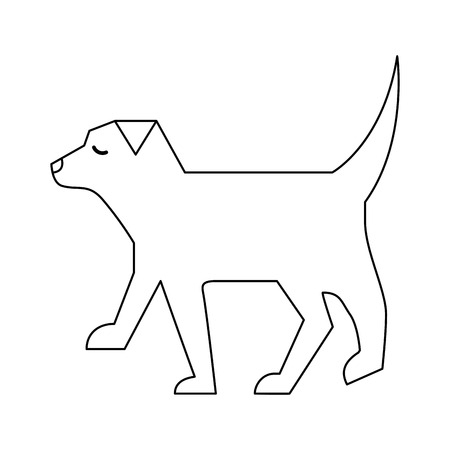 pet dog animal domestic image vector illustration outline design