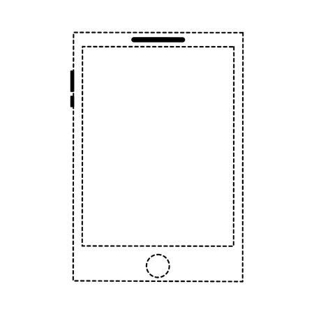 smartphone display digital device blank vector illustration dotted line 일러스트