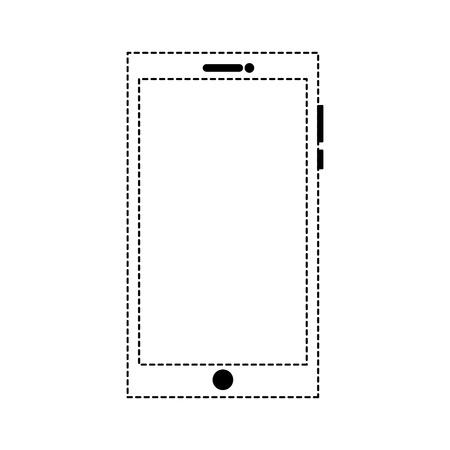 smartphone device gadget technology digital vector illustration dotted line