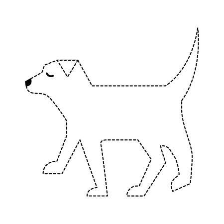 pet dog animal domestic image vector illustration dotted line