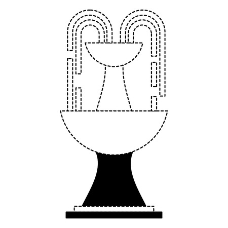 fountain water decoration architecture image vector illustration dotted line