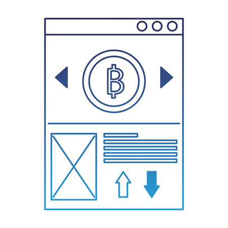 website bitcoin business message image vector illustration degraded blue