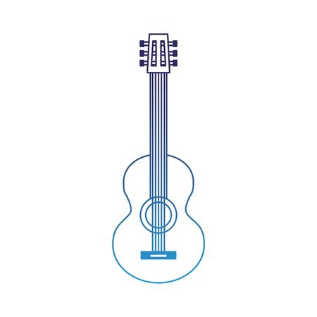 classic guitar instrument musical image vector illustration degraded blue