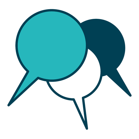 speech bubbles chat dialog talk image vector illustration green design Ilustração