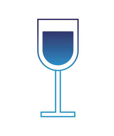 glass cup drink beverage alcohol vector illustration degraded blue 版權商用圖片 - 97675032
