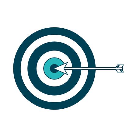 target arrow strategy business marketing vector illustration green design