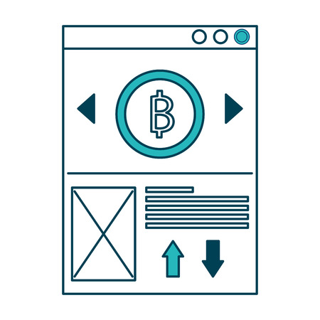 website bitcoin business message image vector illustration green design Ilustrace