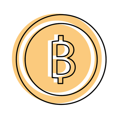 bitcoin cryptocurrency business commerce image vector illustration