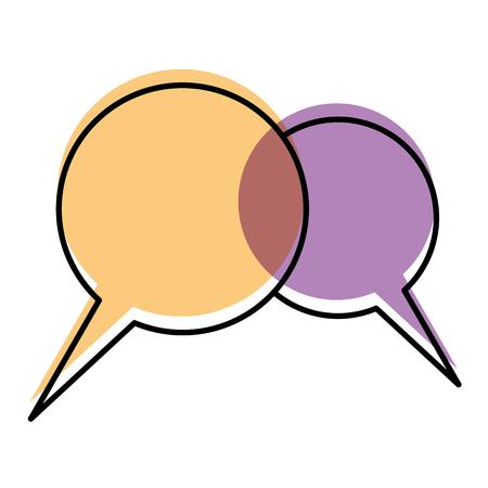 speech bubbles chat dialog talk image vector illustration Illustration