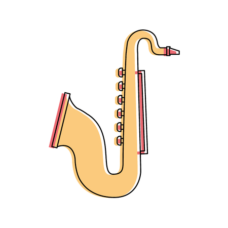 saxophone instrument wind musical image vector illustration