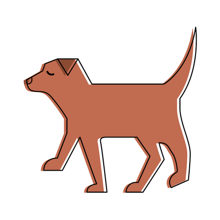 pet dog animal domestic image vector illustration Illustration
