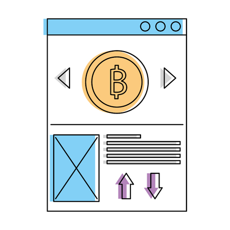 website bitcoin business message image vector illustration