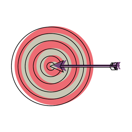 target arrow strategy business marketing vector illustration