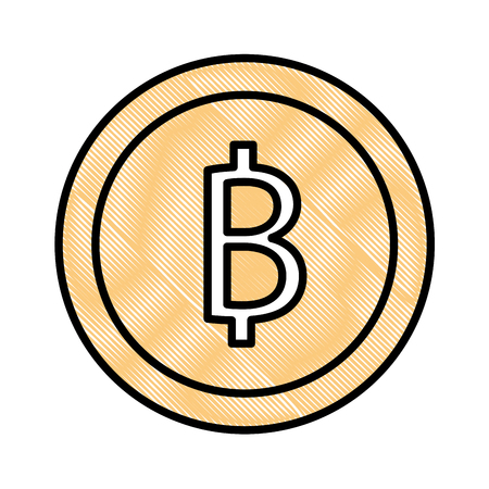 bitcoin cryptocurrency business commerce image vector illustration drawing color
