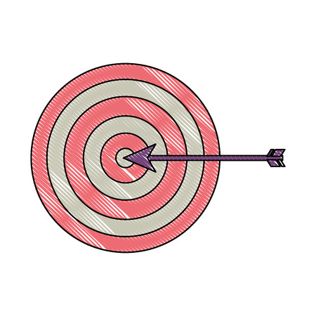 target arrow strategy business marketing vector illustration drawing color