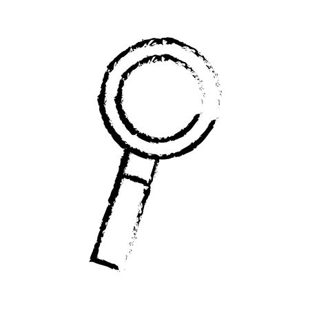 magnifier glass search find discovery vector illustration sketch design
