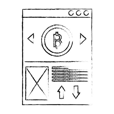 website bitcoin business message image vector illustration sketch design