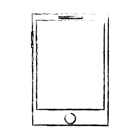 smartphone display digital device blank vector illustration sketch design