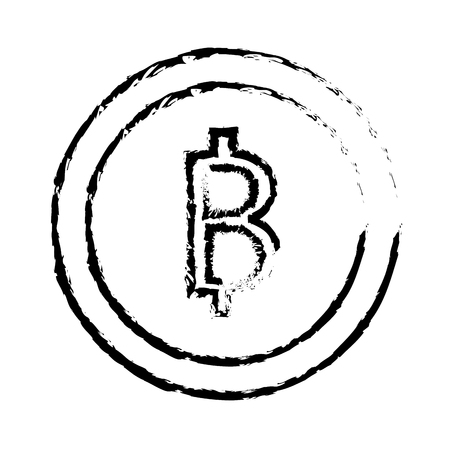 bitcoin cryptocurrency business commerce image vector illustration sketch design