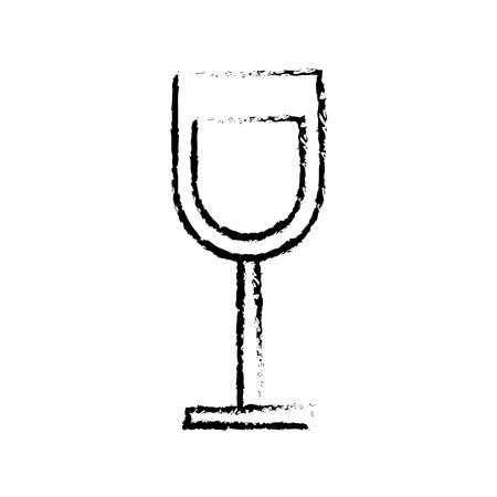 glass cup drink beverage alcohol vector illustration sketch design