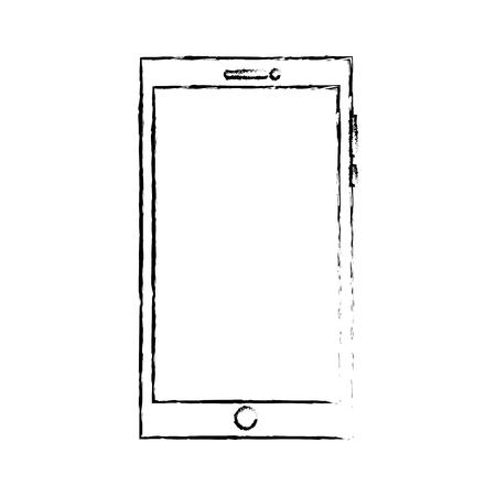 smartphone device gadget technology digital vector illustration sketch design 일러스트