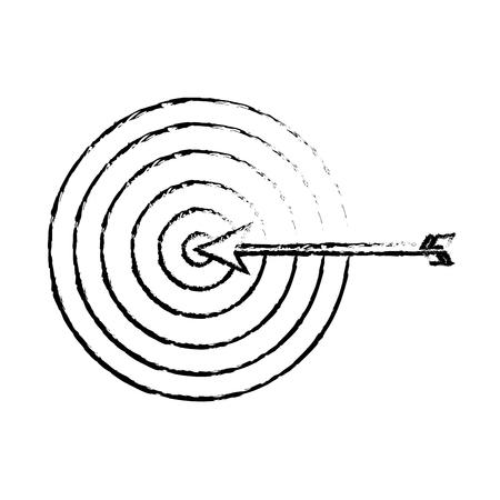 target arrow strategy business marketing vector illustration sketch design