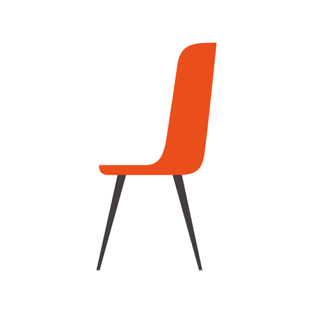plastic chair furniture comfort image vector illustration Imagens - 97674305