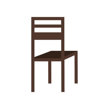 wooden chair classic furniture image vector illustration Illusztráció