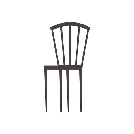 wooden elegant chair furniture image vector illustration