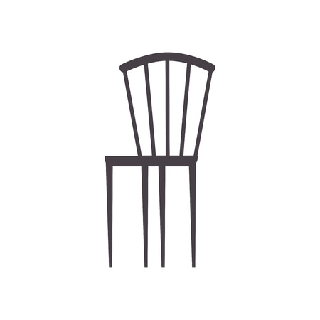 wooden elegant chair furniture image vector illustration