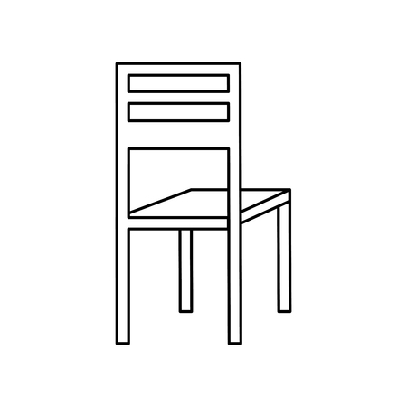 wooden chair classic furniture image vector illustration outline design