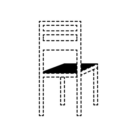 wooden chair classic furniture image vector illustration dotted line design Stock Vector - 97677018