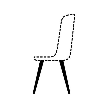 plastic chair furniture comfort image vector illustration dotted line design