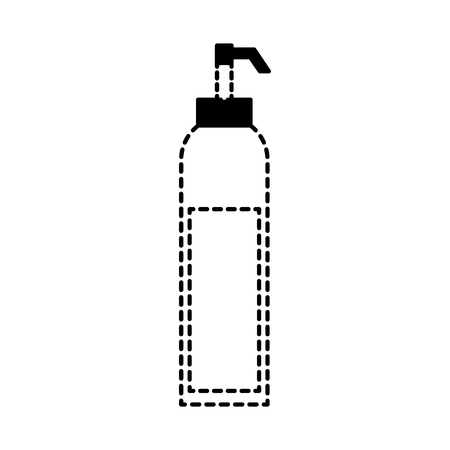 dispenser of sauce ingredient condiment vector illustration dotted line design Ilustração