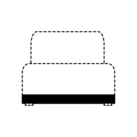 sofa chair soft texture furniture image vector illustration dotted line design Иллюстрация