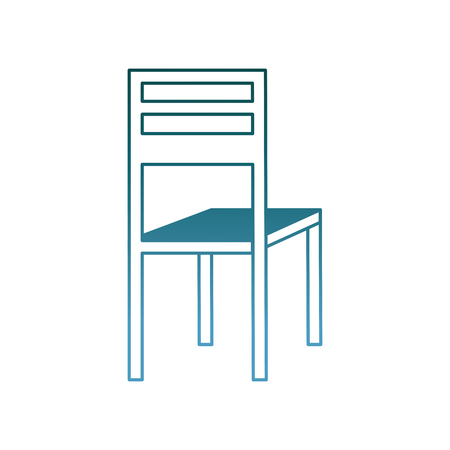 wooden chair classic furniture image vector illustration gradient color design