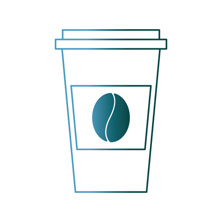 disposable coffee cup icon with coffee bean takeaway vector illustration gradient color design Фото со стока - 97677901