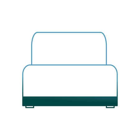 sofa chair soft texture furniture image vector illustration gradient color design
