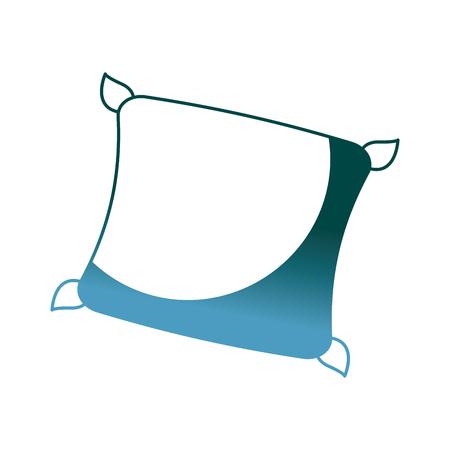 decorative cushion soft elegant image vector illustration gradient color design Illustration