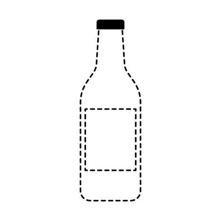 alcohol drink liquor bottle image vector illustration dotted line design Reklamní fotografie - 97677969