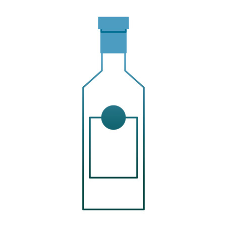 alcohol drink liquor bottle image vector illustration gradient color design