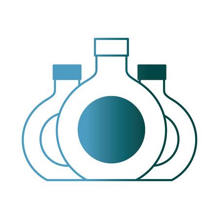 three round bottle liquor beverage vector illustration gradient color design Ilustração