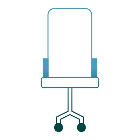 comfort armchair wheels furniture office vector illustration gradient color design