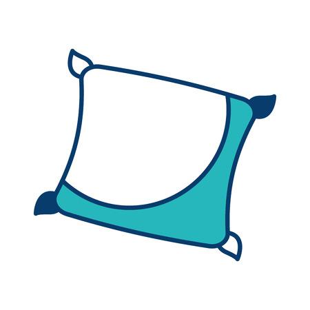 decorative cushion soft elegant image vector illustration green and blue design Иллюстрация
